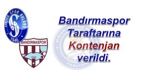 Bandırmaspor Taraftarına Kontenjan Uygulanacak.