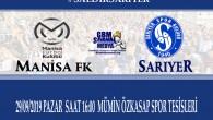 MANİSA FK – SARIYER CANLI YAYIN