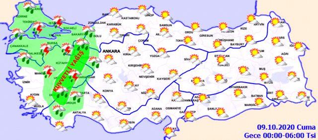 Meteoroloji'den, İstanbul'un da içinde olduğu 7 il için dolu ve fırtına uyarısı